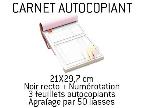 Carnets autocopiants 50/3