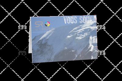 Carte de Voeux 10x21 / 20x21 cm
