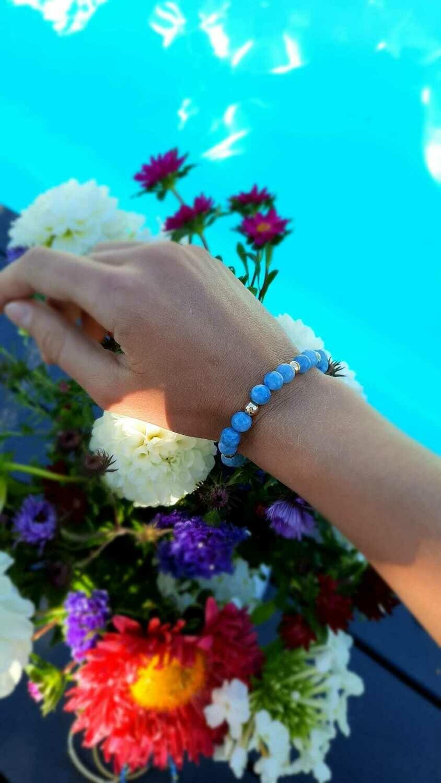 Angelite Hawaï Blue Pearls (1 pièce)