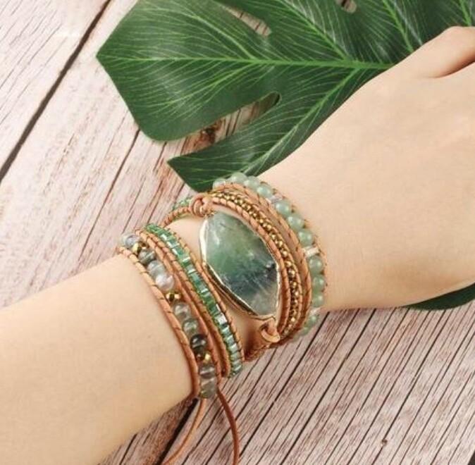 Fluorite & Aventurine Calm Bracelet