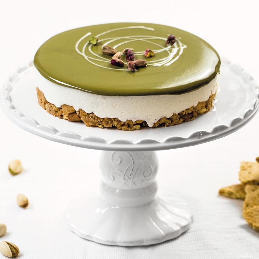Torta Gelato Cheesecake con crema al pistacchio