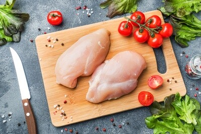 Boneless Skinless Chicken Breast - 2 Full Breast Lobes/4 Fillets ($6.92/lb)