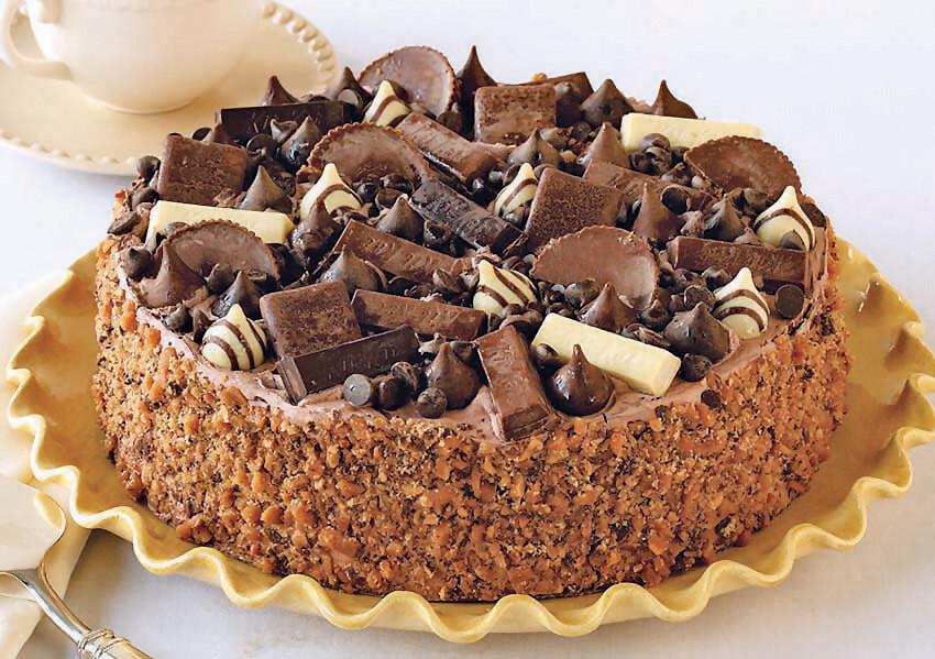 Candy Bar Explosion Cake - 14 Cut