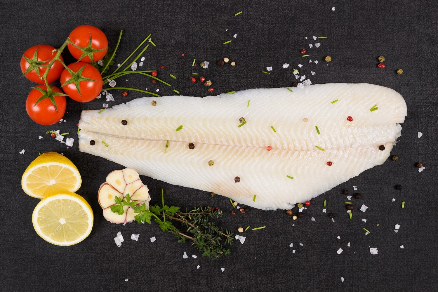 Wild Caught Atlantic Halibut Fillet 1 lb. - Skin on