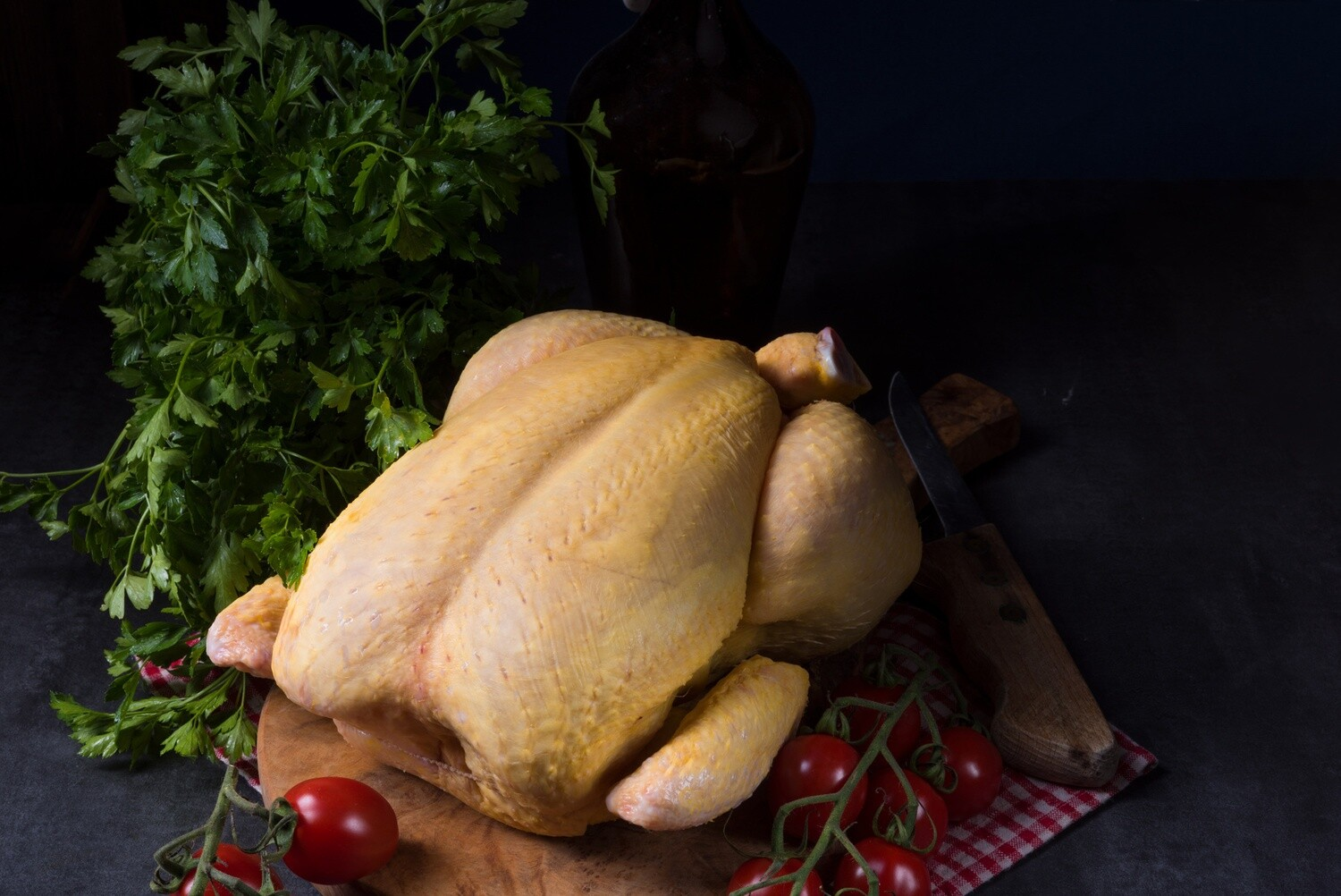Uncooked Whole Free-Range Capon ($7.78/lb) - ~11 lbs