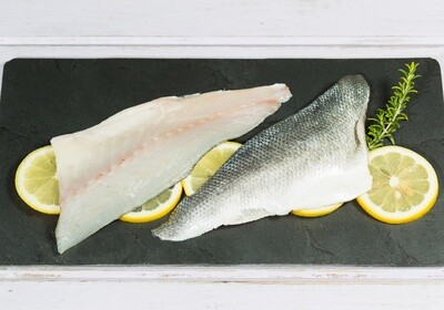 Wild Caught Black Sea Bass Fillet 1 lb.- Skin On