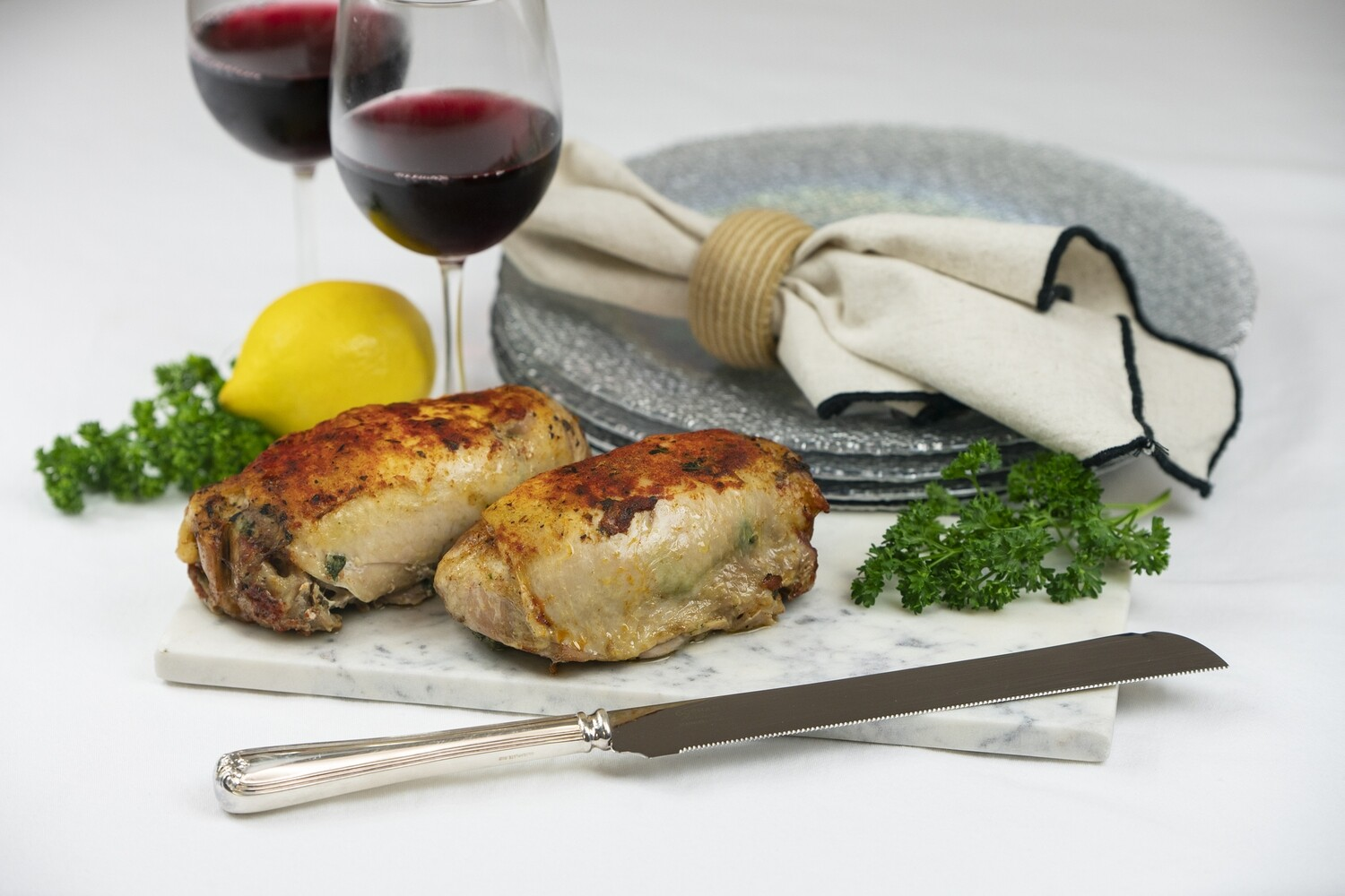 Spinach Stuffed Capon