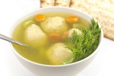 Kosher L'Pesach PARVE Matzoh Ball Soup - 1 Quart