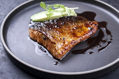 Kosher L'Pesach Blackened Salmon Tray - 12 oz.