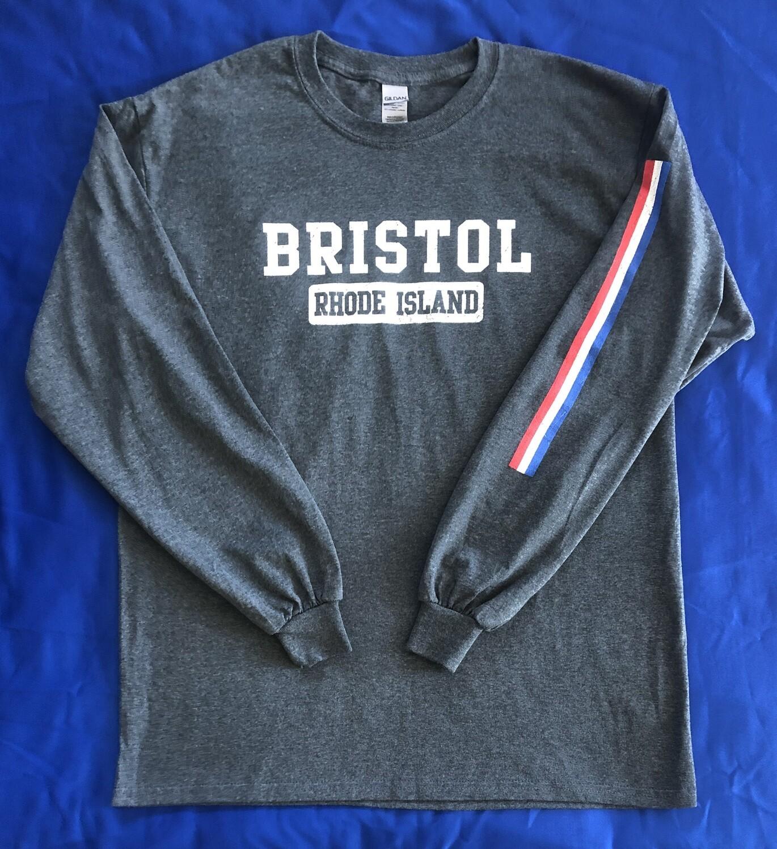 Long Sleeve T-Shirt - Gray Road Stripe