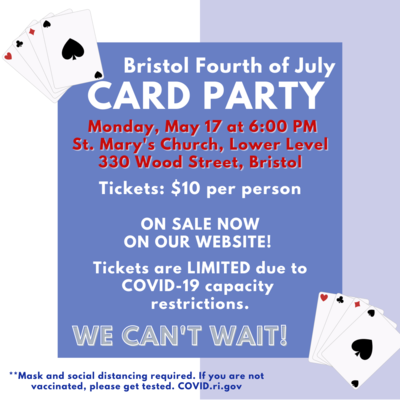 Card Party, Monday, May 17 @ 6 PM