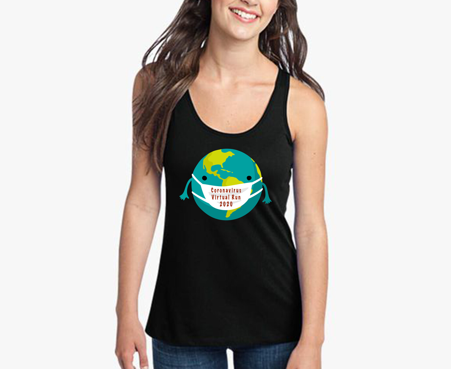 CORONAVIRUS VIRTUAL RUN FINISHER TANK TOP
