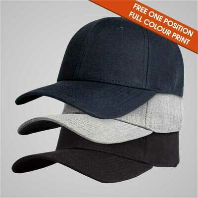 Fashion Caps - 6 Panel Curved Peak