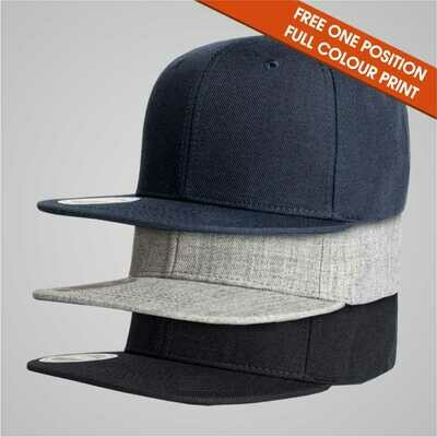 Fashion Caps - 6 Panel Flat Peak