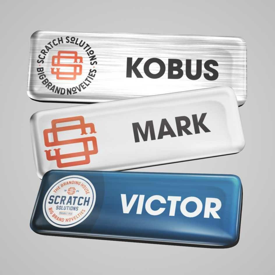 Name Badges - Rectangular Plastic