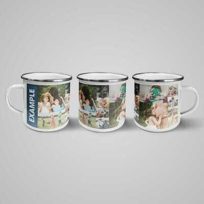 Personalised Mug - 350 ml Enamel Steel Mug