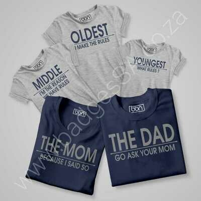 Family-01 Combo T-Shirt Set