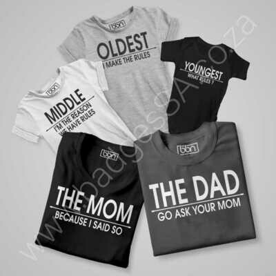 Family-00 Combo - Build Your Own T-Shirt Set