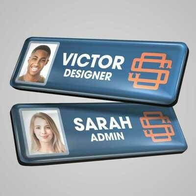 Name Badges - Photo ID Plastic