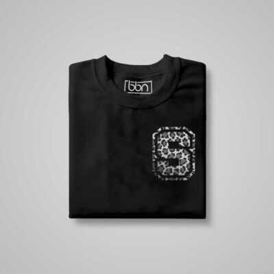 LEOPARD Initial Letter Print T-Shirt