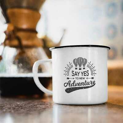 Mug - 350 ml Enamel Steel Mug