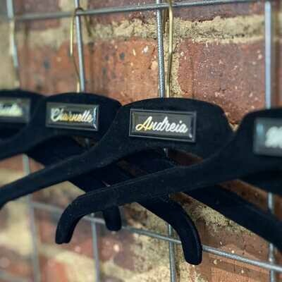 Luxury Black Velvet Hanger
