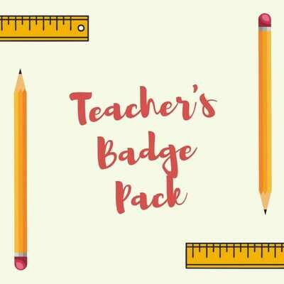 Teacher Button Badges (Ready-Made) PACK of 50