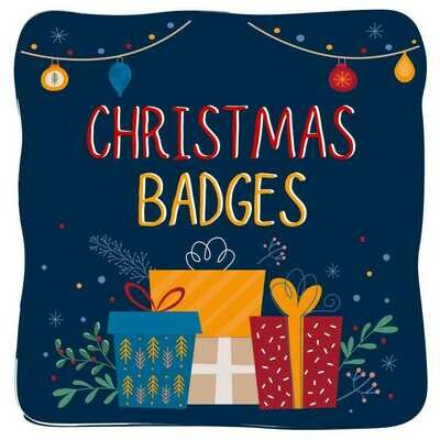 Christmas Button Badges (Ready-Made) PACK of 50