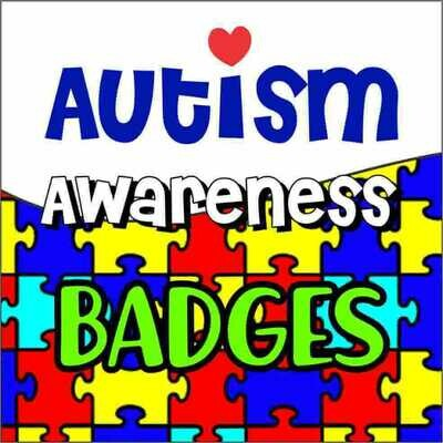 Autism Awareness Button Badges (Ready-Made) PACK of 50