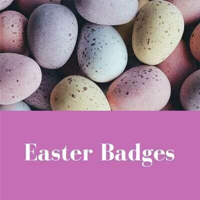Easter Button Badges (Ready-Made)                       PACK of 50