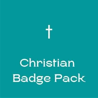 Christian Button Badges (Ready-Made) PACK of 50