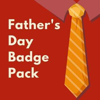 Father's Day Button Badges (Ready-Made) PACK of 50