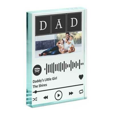 Spotify Music Favourite Song Glass Photo Block