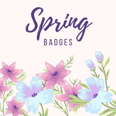 Happy Spring Day Button Badges (Ready-Made) PACK of 50
