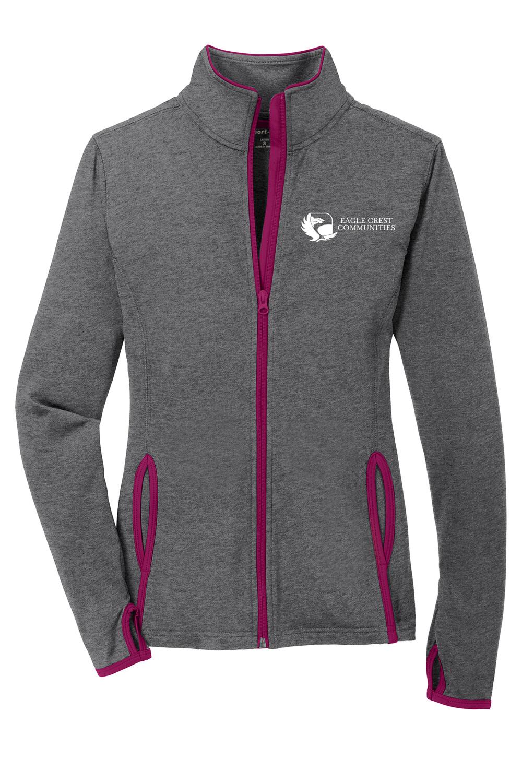 Ladies Sport-Tek Sport-Wick Stretch Contrast Full-Zip Jacket