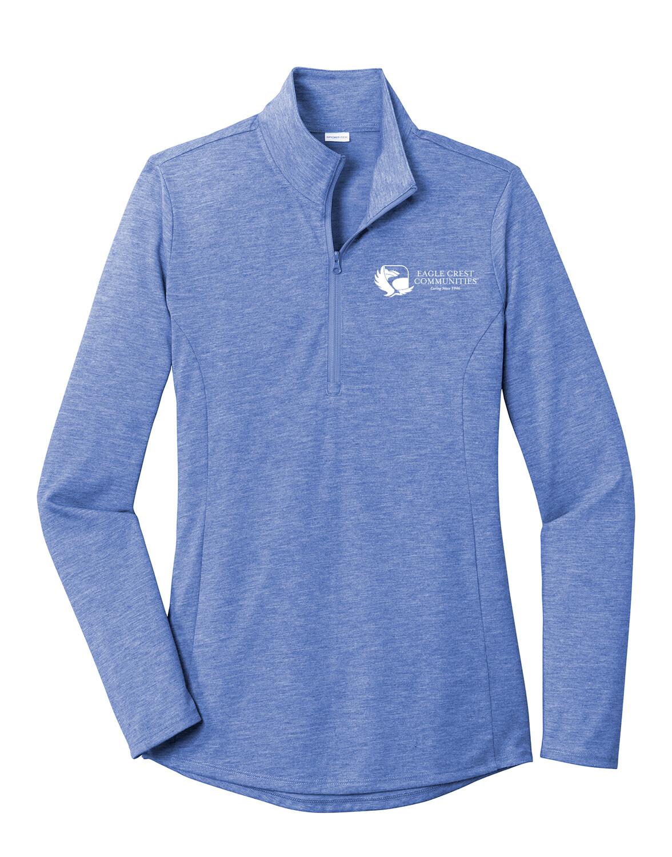 Sport-Tek Ladies PosiCharge Tri-Blend Wicking 1/4-Zip Pullover