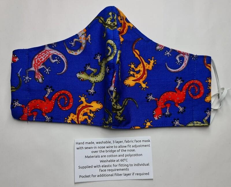 Repti Mask Blue Lizard