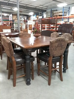 LG SQUARE DINING TABLE/6 CHAIRS