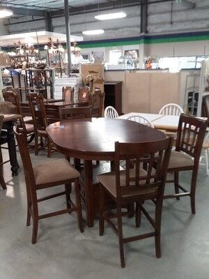 COUNTER HEIGHT DINING TABLE/4 CHAIR