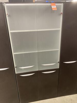 STORAGE CABINET GLASS DOORS