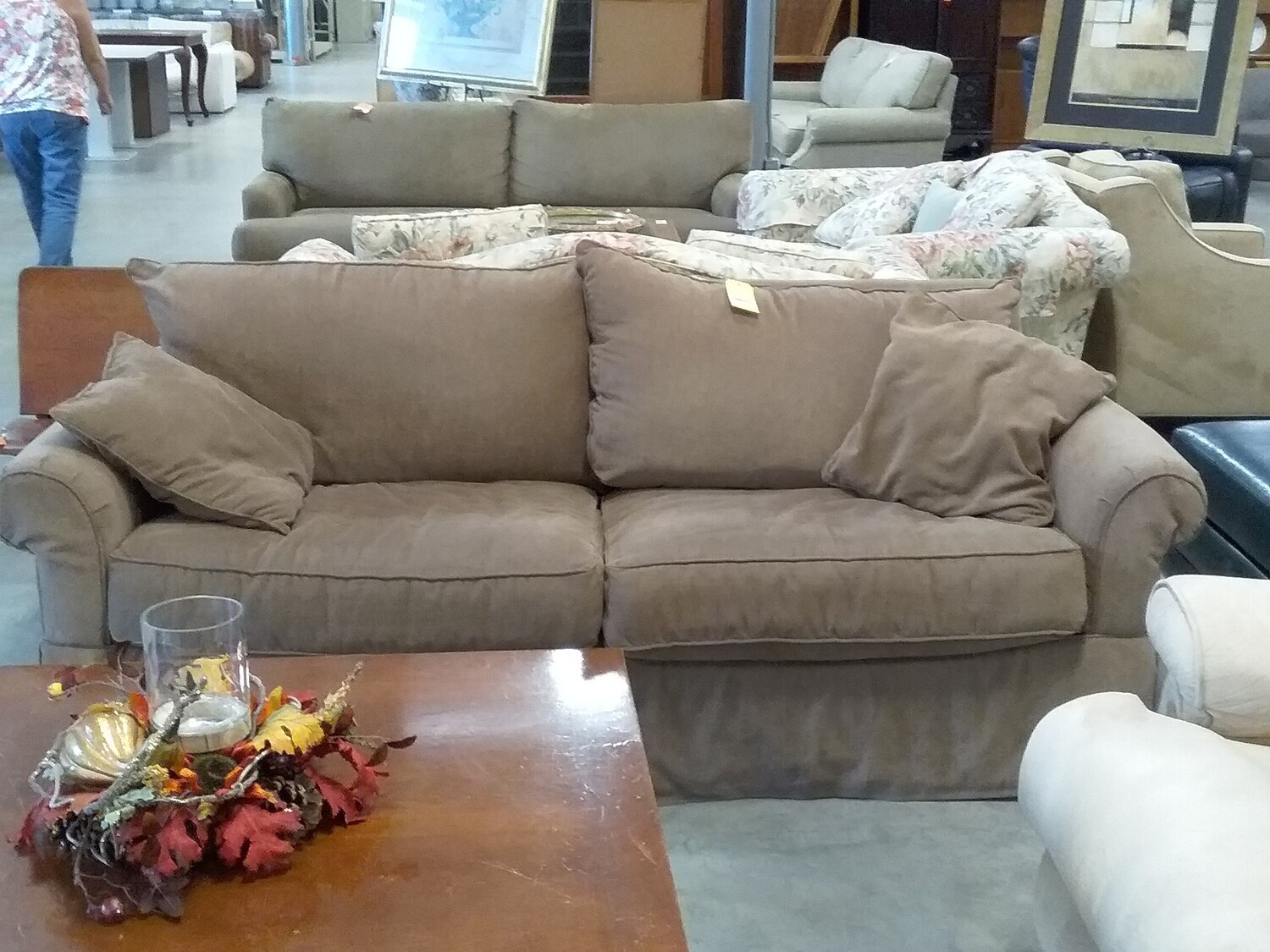 SOFA BROWN 2 SEATS