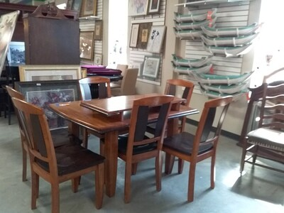 DINING TABLE/LEAF/6CHAIRS