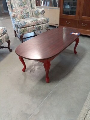 OVAL WOOD COFFEE TABLE