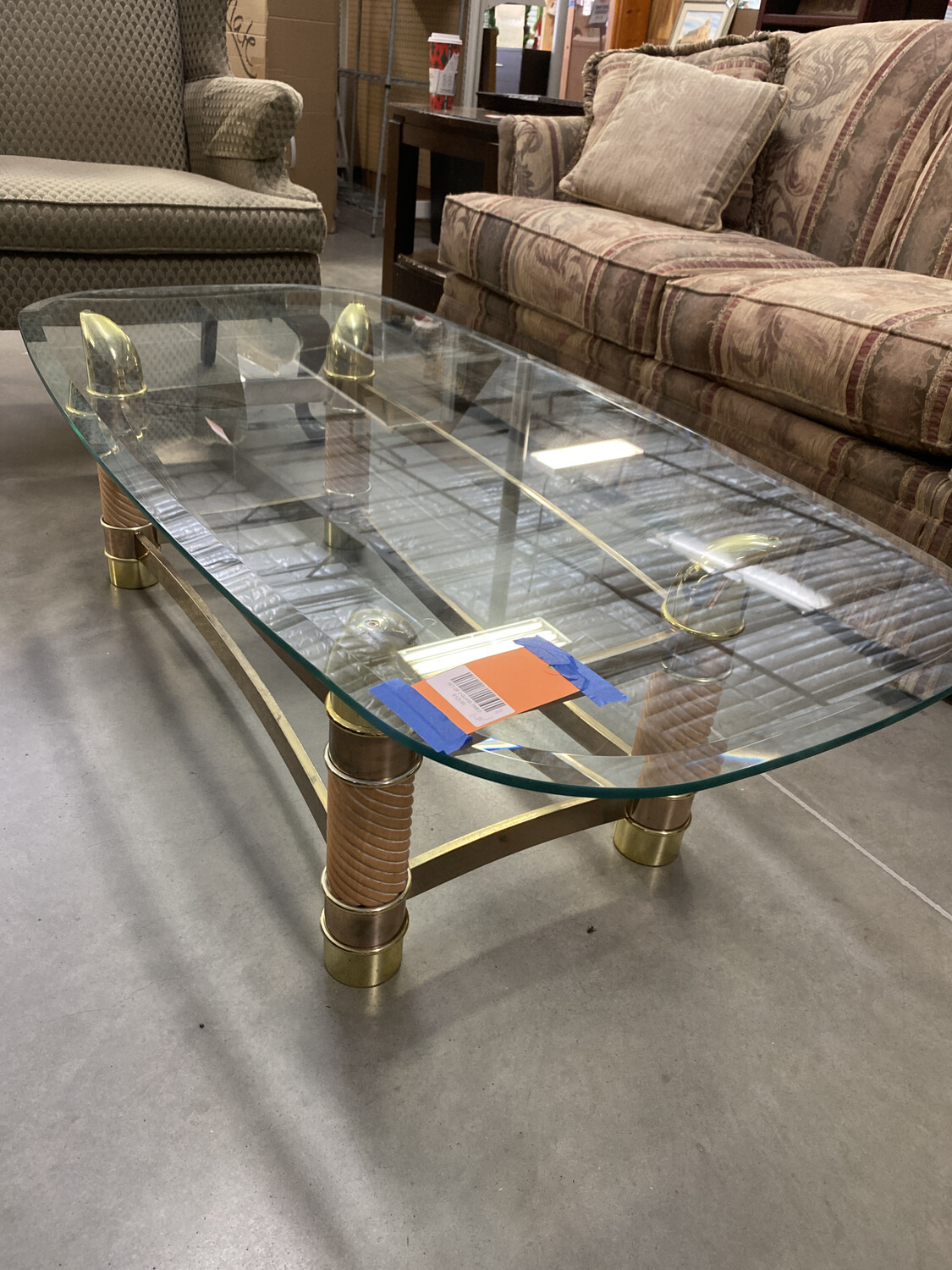 SET OF 2 GLASS TABLE