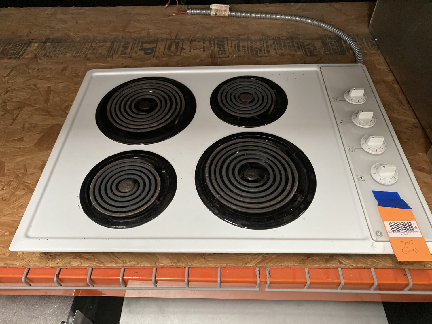 GE 4 BURNER ELECTRIC COOKTOP