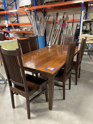 DINING SET 6 CHAIRS
