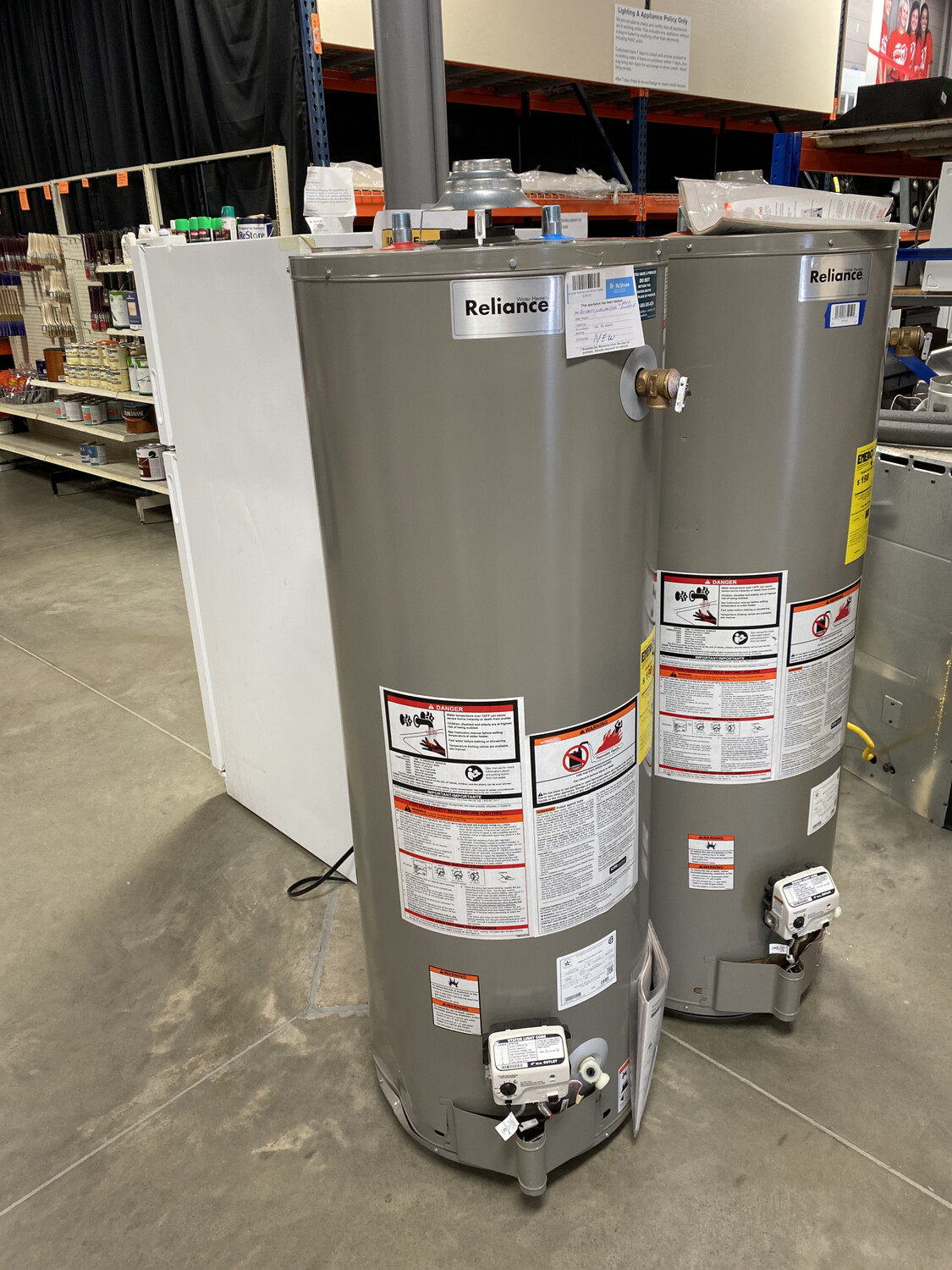 Reliance Natural Gas Water Heater 2