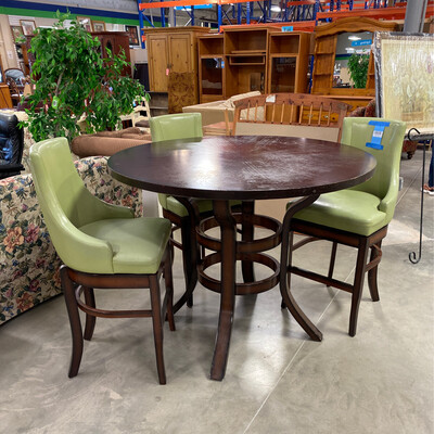 ROUND BAR TABLE 3 CHAIRS