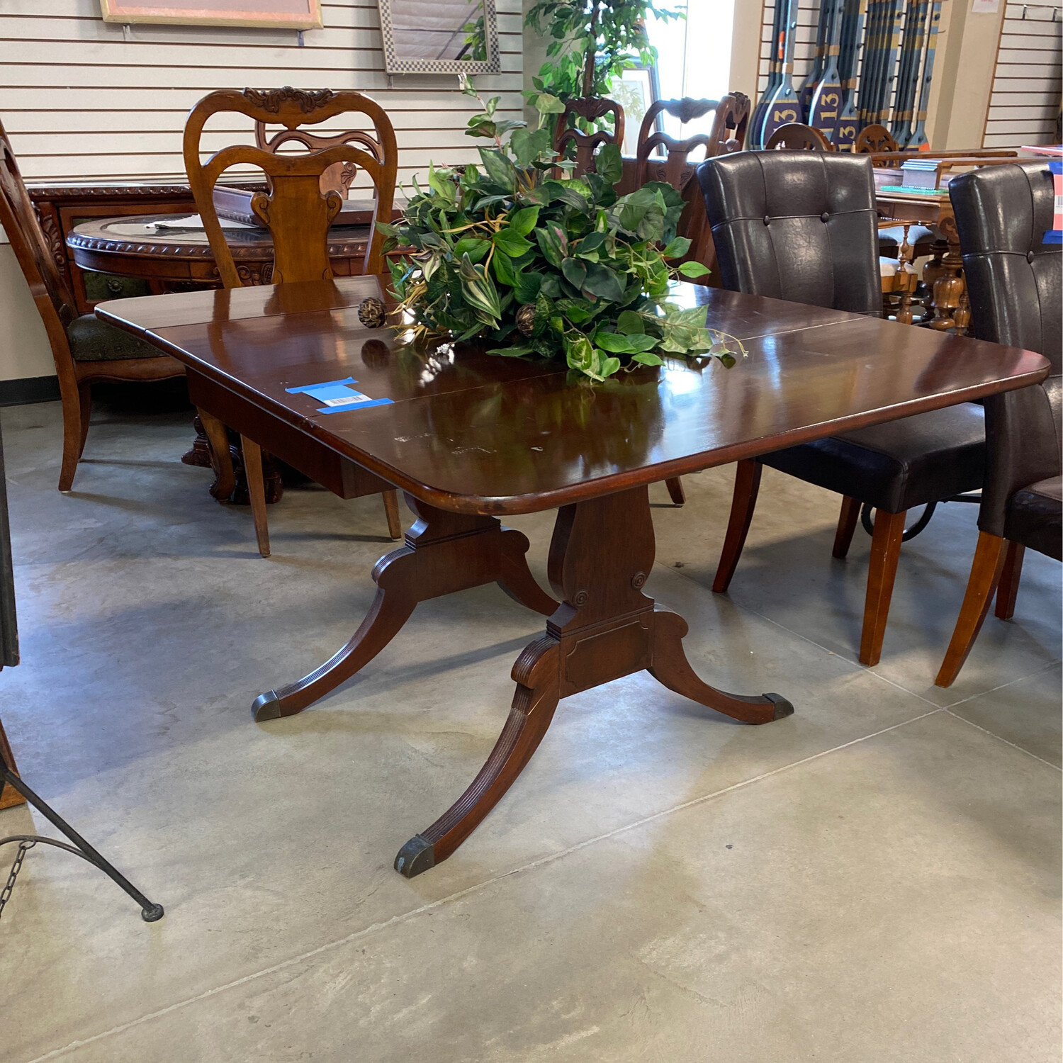DRK. BROWN FOLD DOWN TABLE