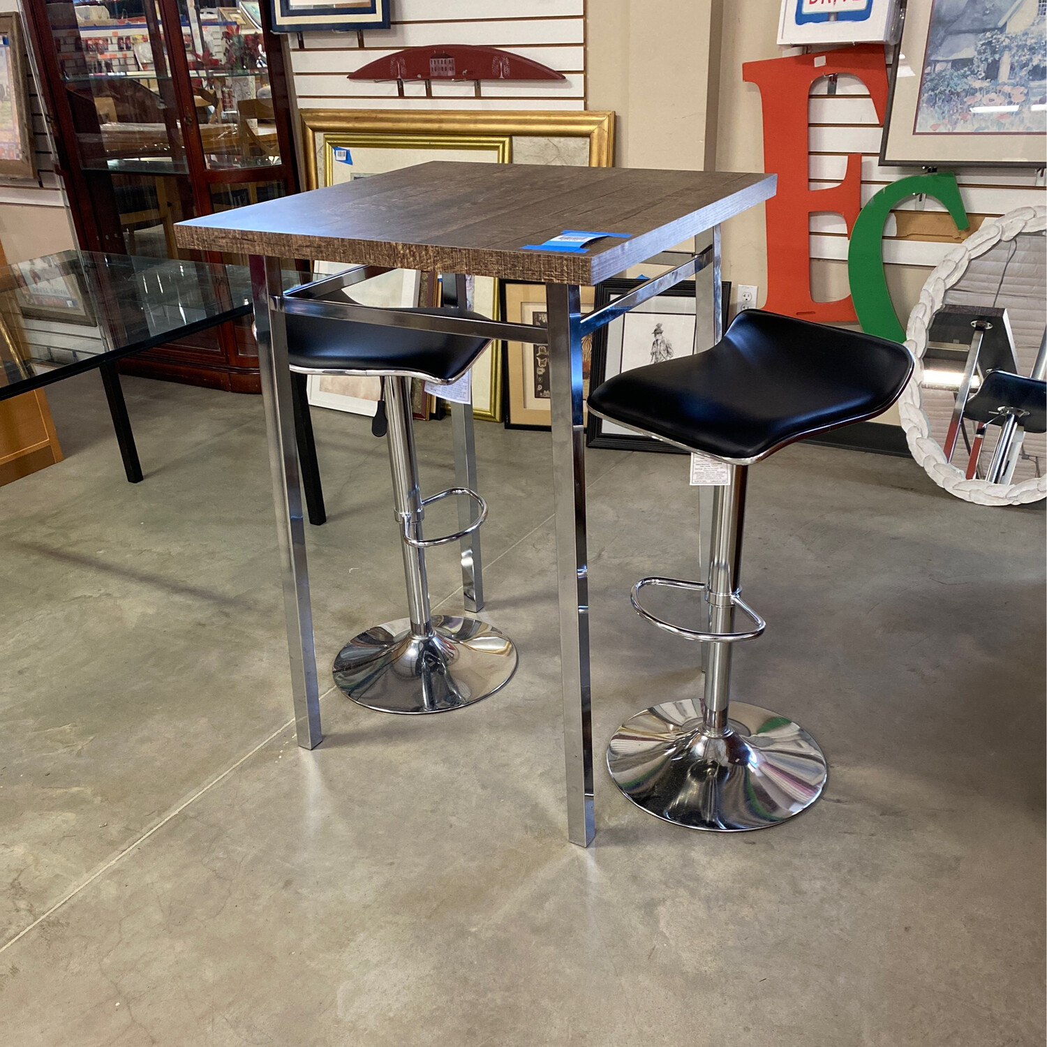 UNIQUE BAR TABLE/2 CHAIRS
